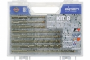 Набор буров ALPEN SDS Plus Set Kit 8: фото, описание